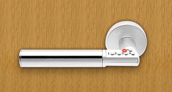 ボタン錠なのでキーが不要