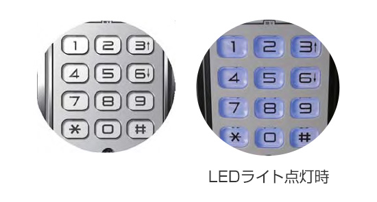 LEDライト付きの大型テンキー
