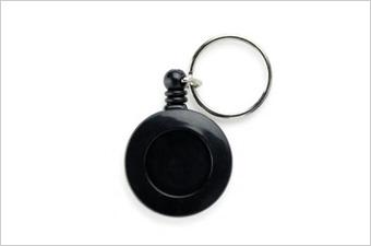 コクーゾ エコノミーバッジリール 背面クリップ スタンダードカラー 黒